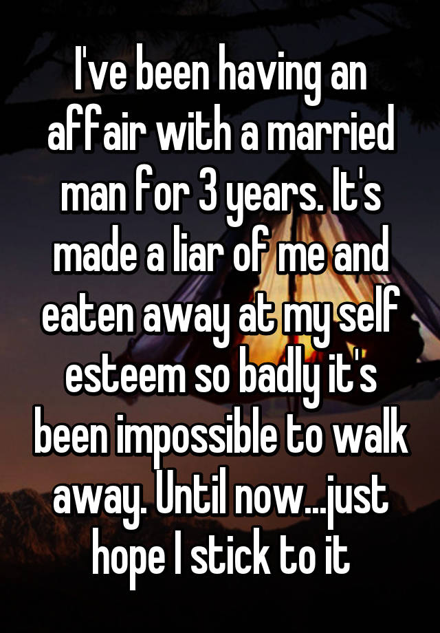 how to walk away from a married man