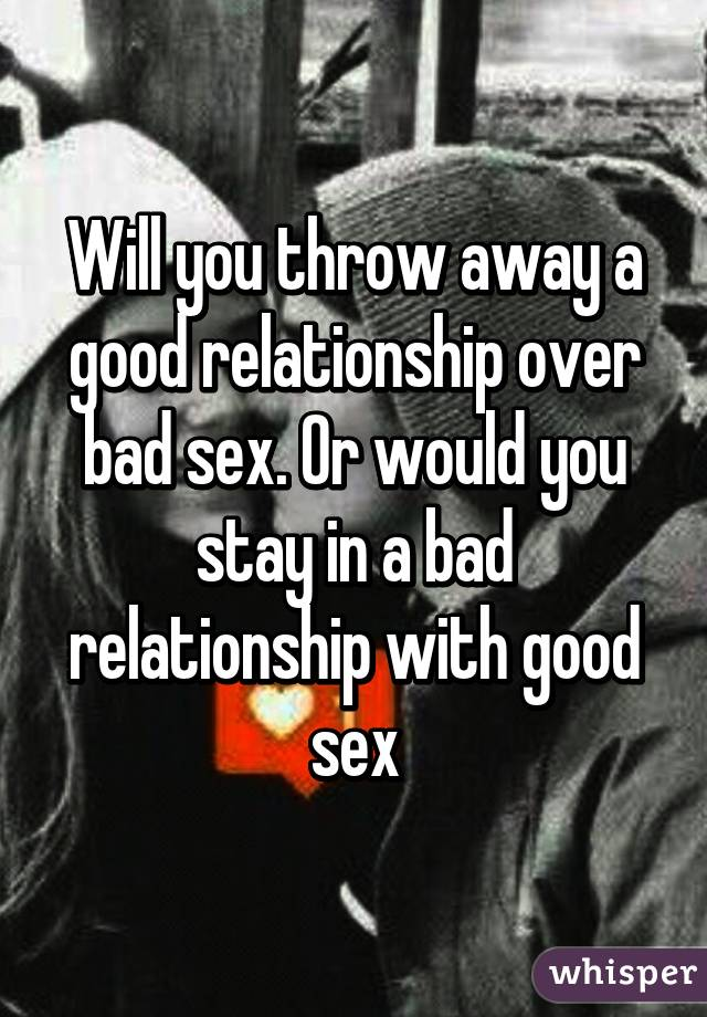Taking away sex in a relationship