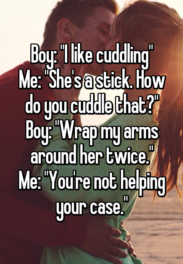 how do you cuddle