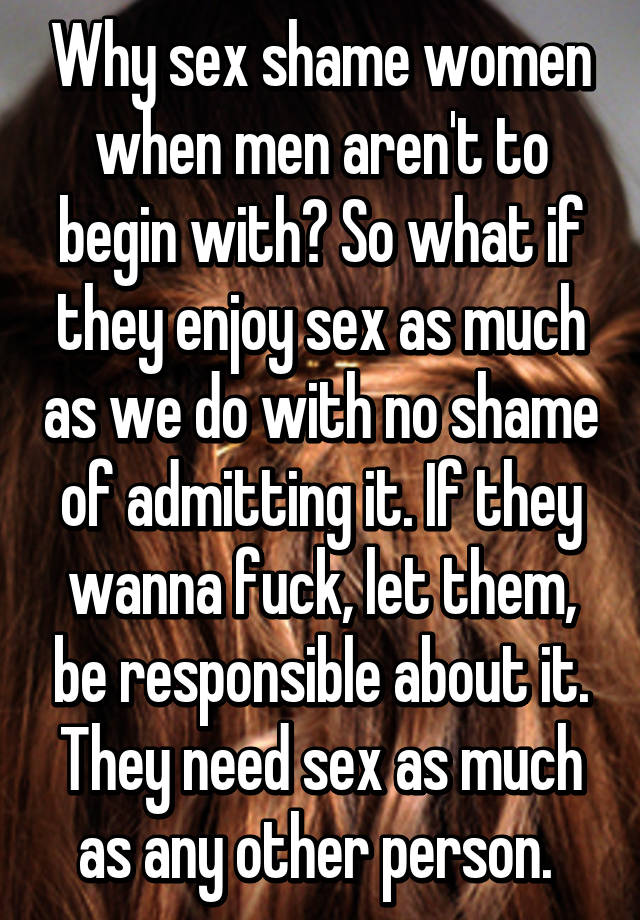 Why do i need sex so much