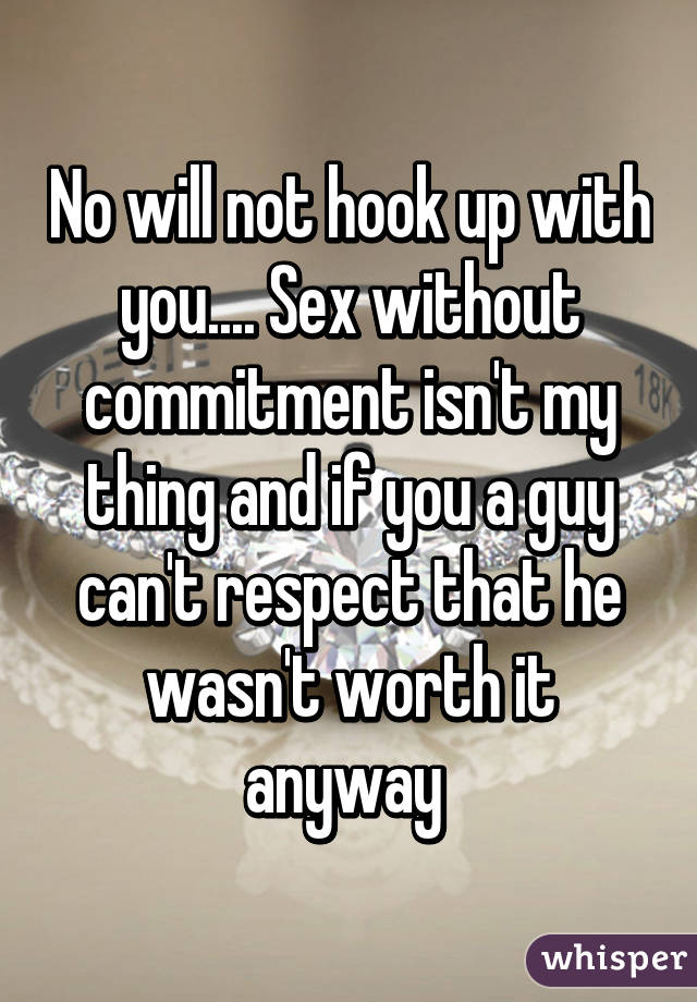 sex and commitment