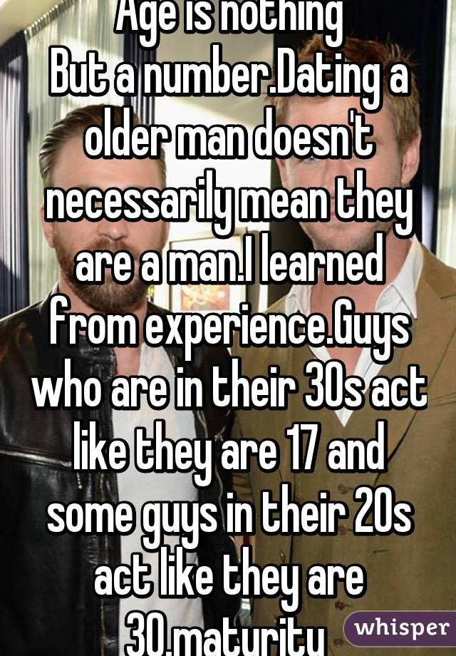 Dating an older man in your 20s