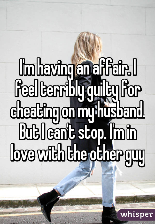 how to get over feeling guilty about cheating