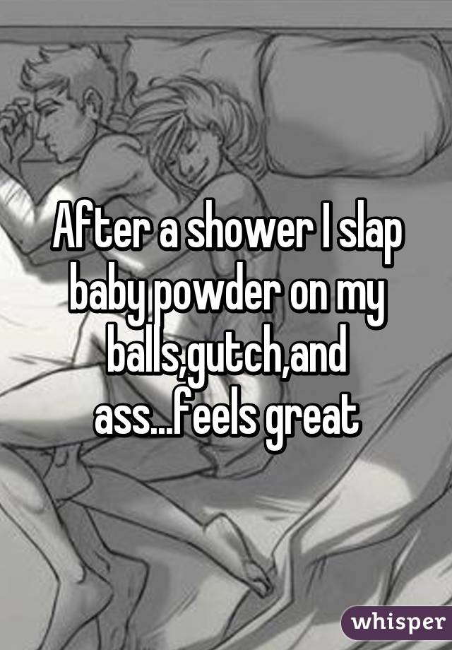 Ass slapping in shower
