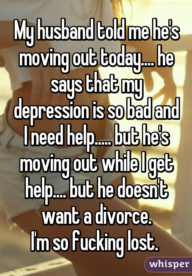 told husband i want a divorce