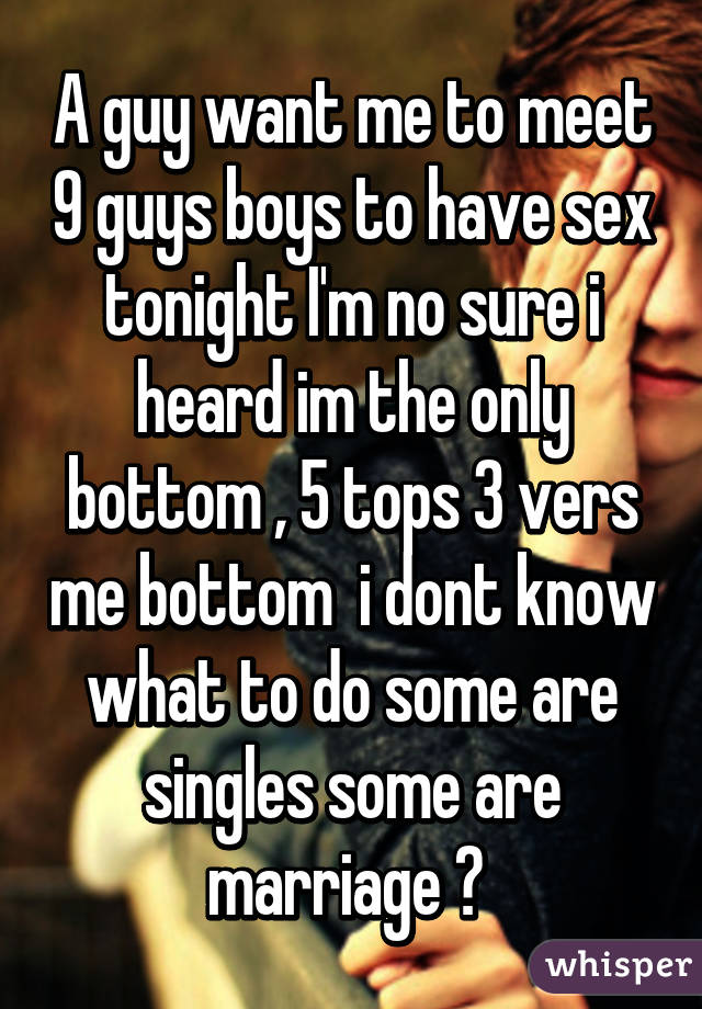 Does anybody want to have sex tonight