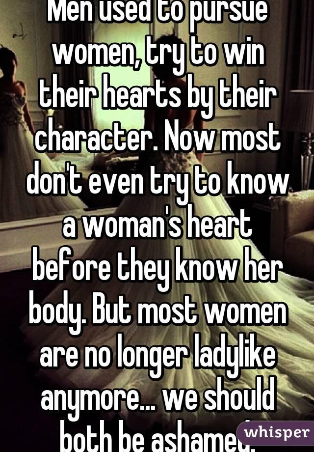 How does a man pursue a woman