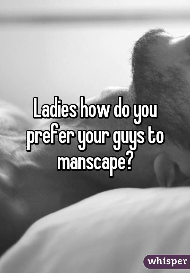 Should you manscape