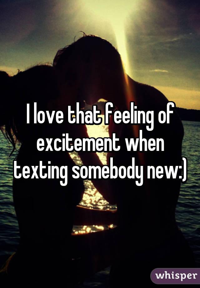 Love excitement