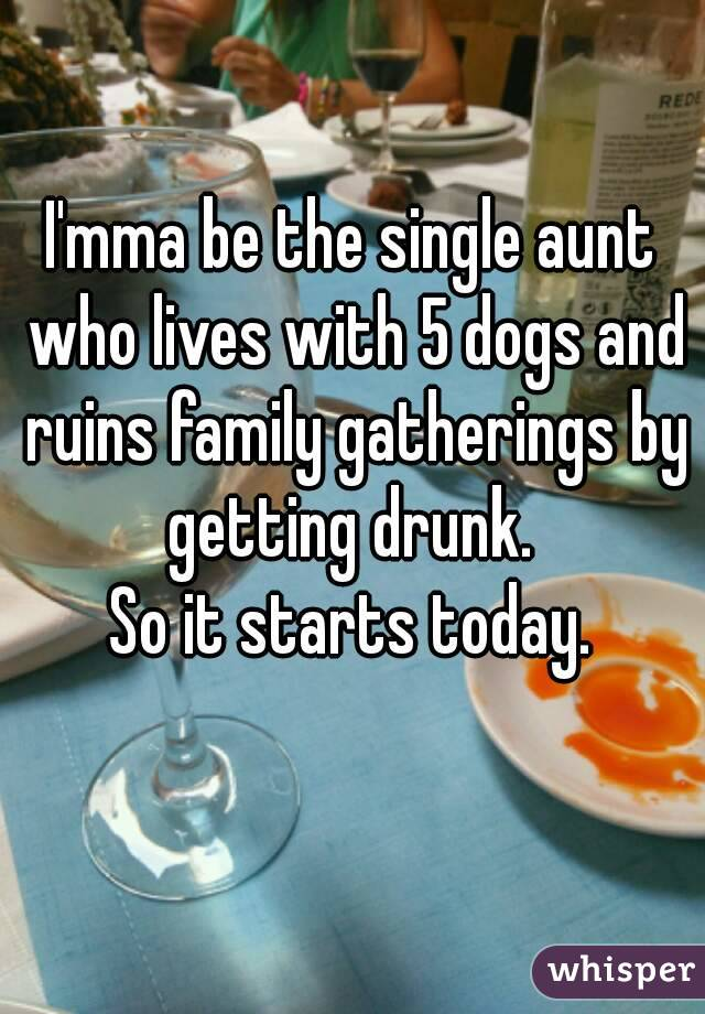 Regret, Getting drunk with family necessary phrase