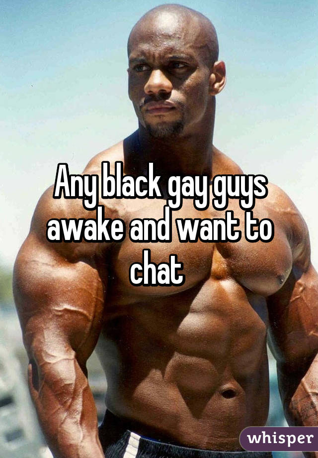 black gay chat