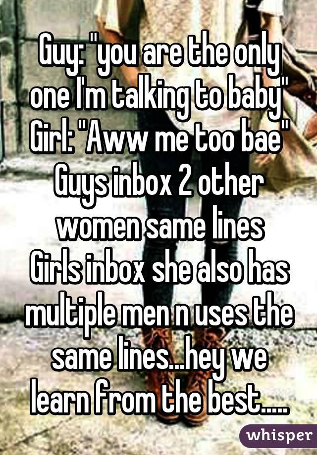 girl talking to multiple guys