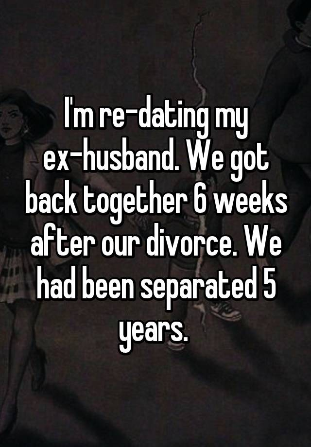 my separated husband is dating