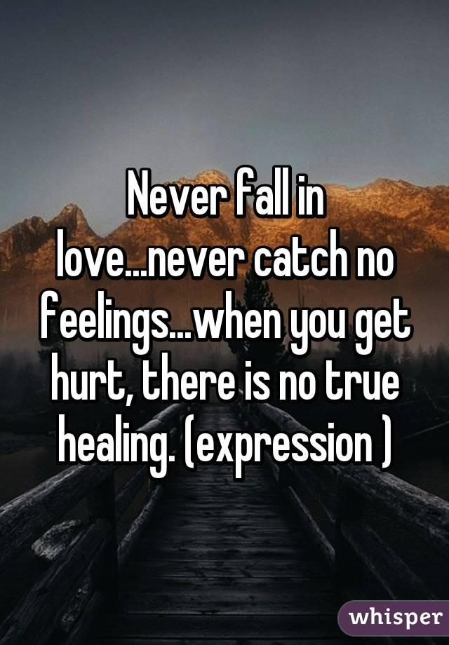 no feelings for you