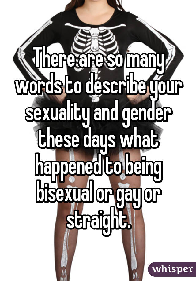 words to describe sexuality