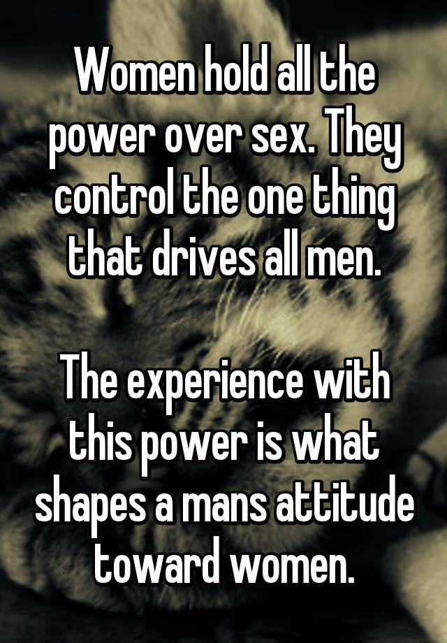 Women in charge of men sexually