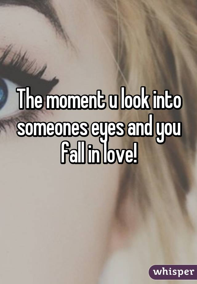 Love staring into in eyes fall Does Staring