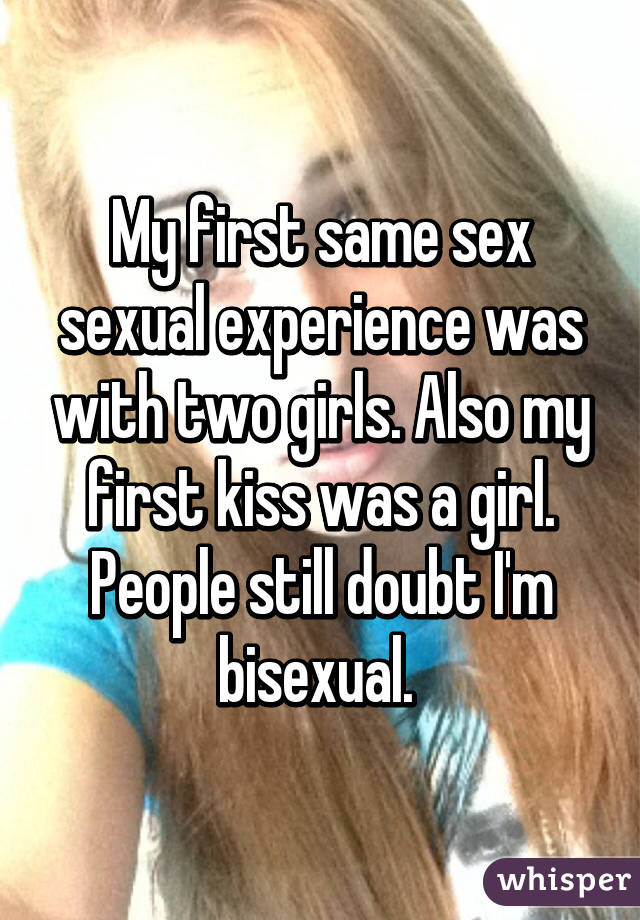 Girls first bisexual