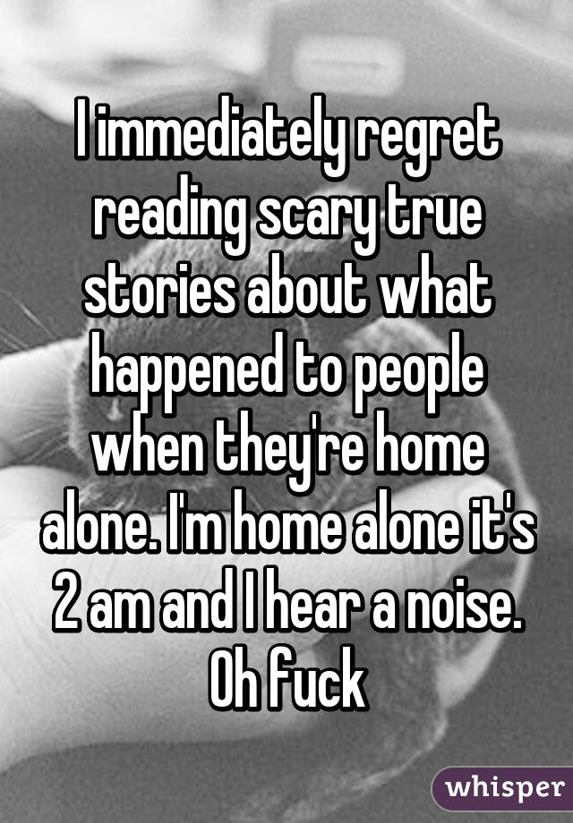 I immediately regret reading scary true stories about what