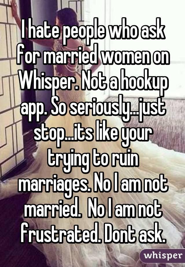 I am hookup a married woman