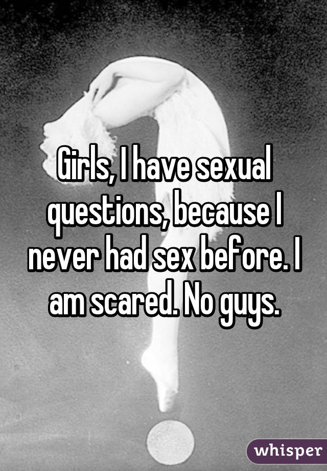 Girls sex questions