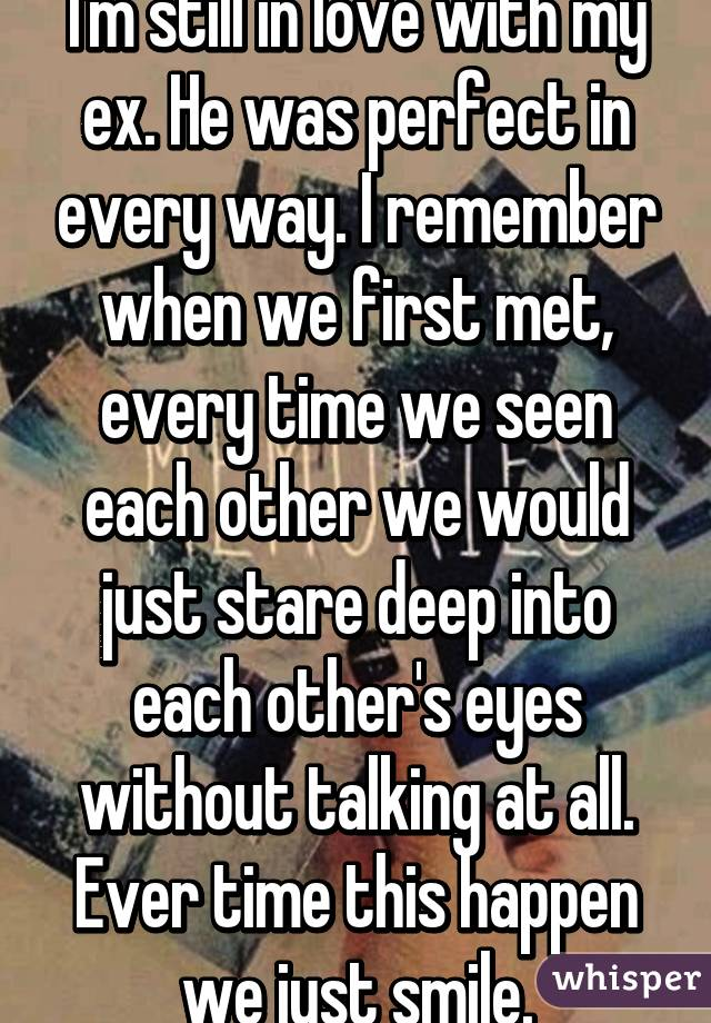 Staring into each other eyes without talking
