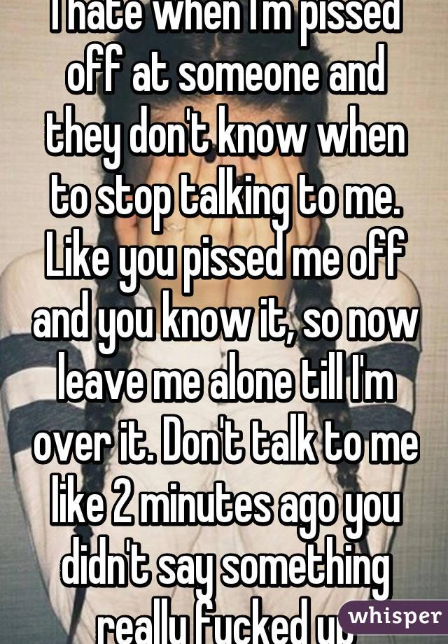 i piss alone