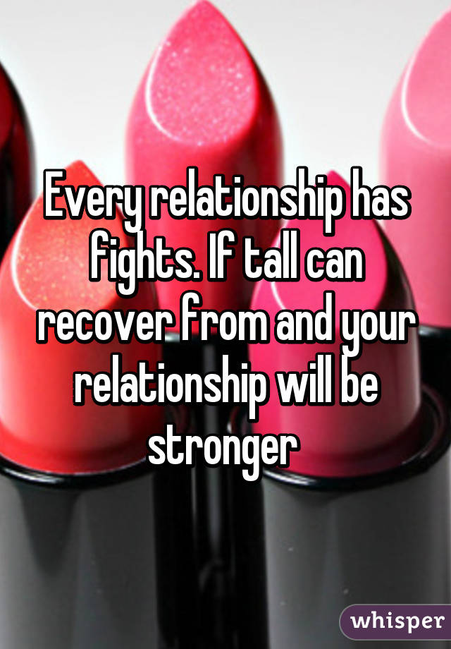How to recover after a fight in the relationship