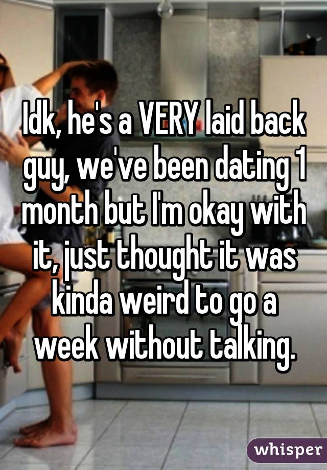Dating A Guy For A Month