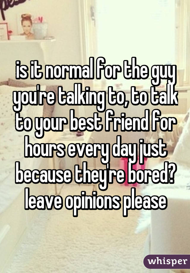 what to talk about with a friend when bored