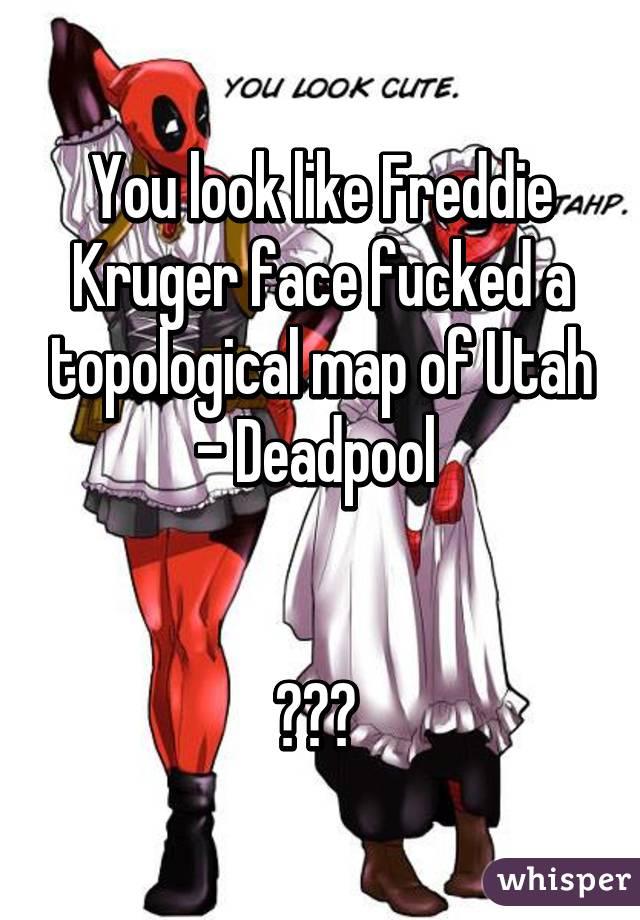 Look Like Freddie Kruger Face Fucked A Topological Map Of Utah - Mapofutah