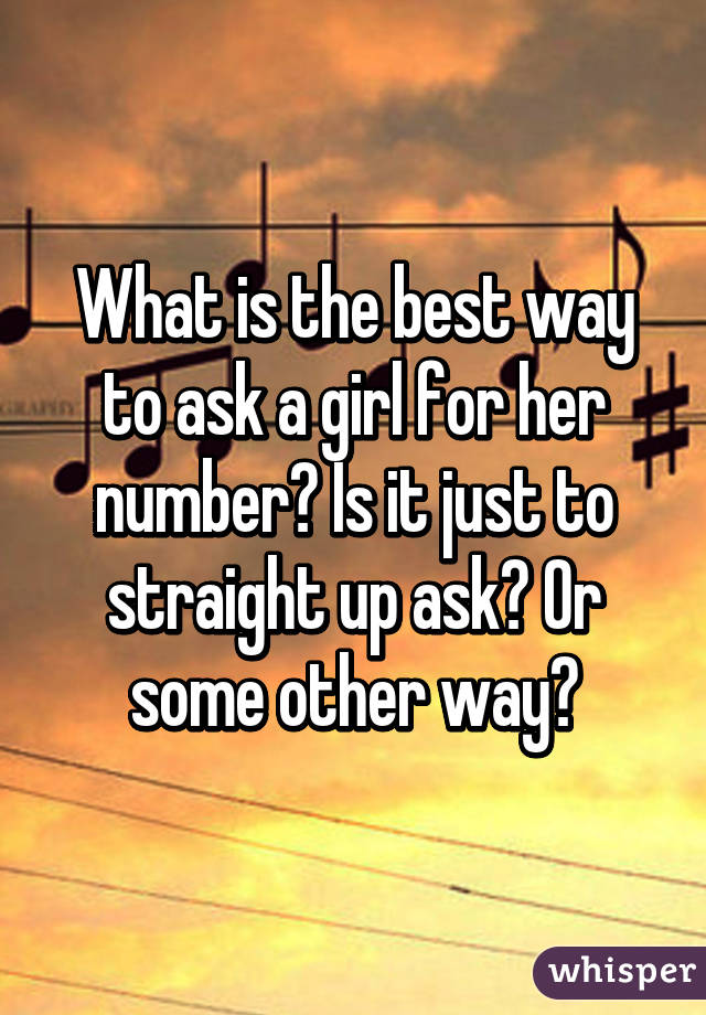 How to ask her number