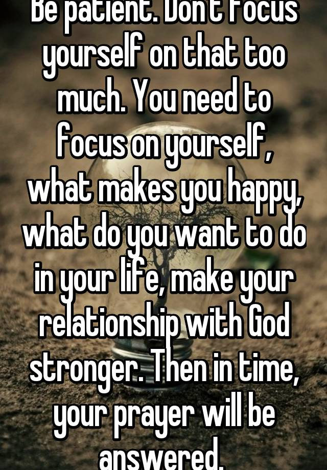 How To Focus On Yourself And Not Your Relationship