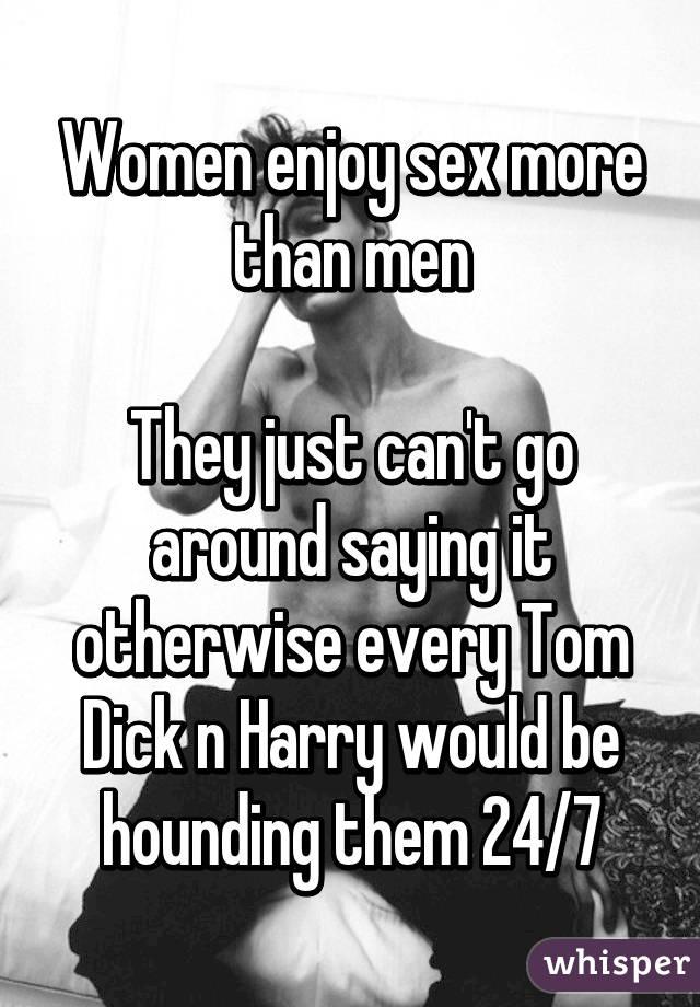 Men like sex more than women