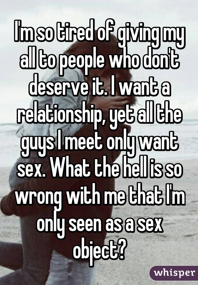 Dont object sex so want