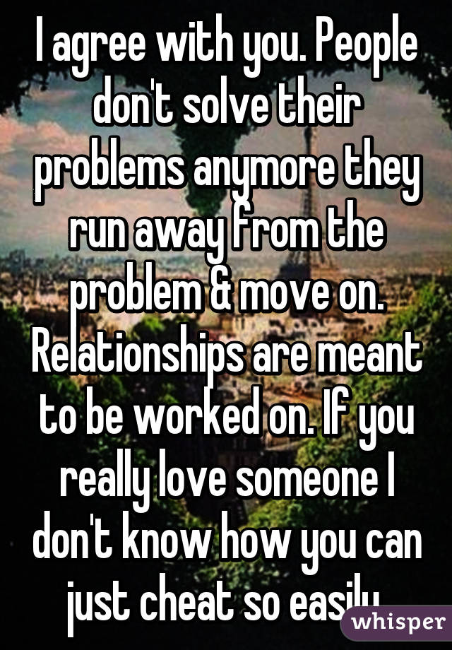 why do people run away from their problems