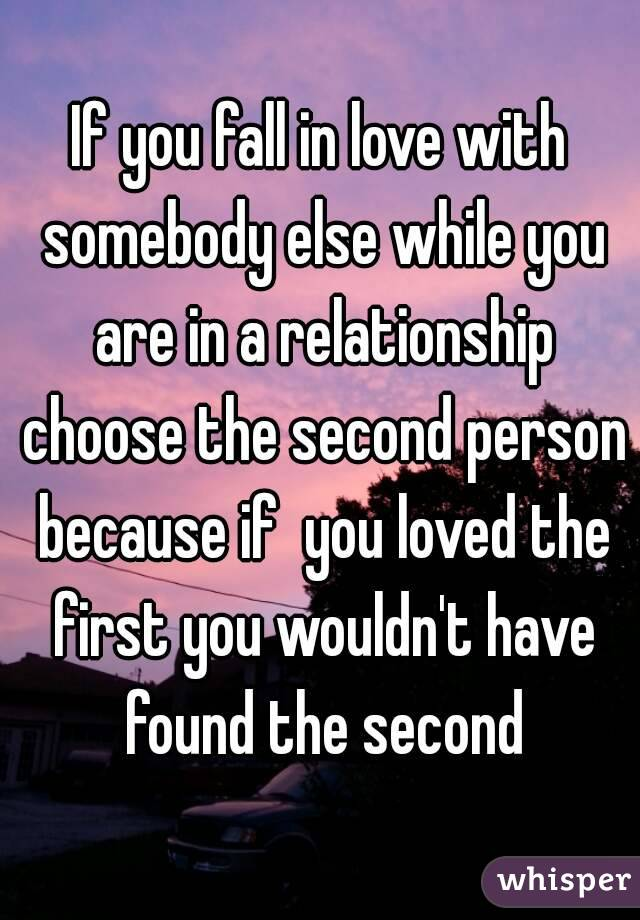 What happens when you fall in love with someone else