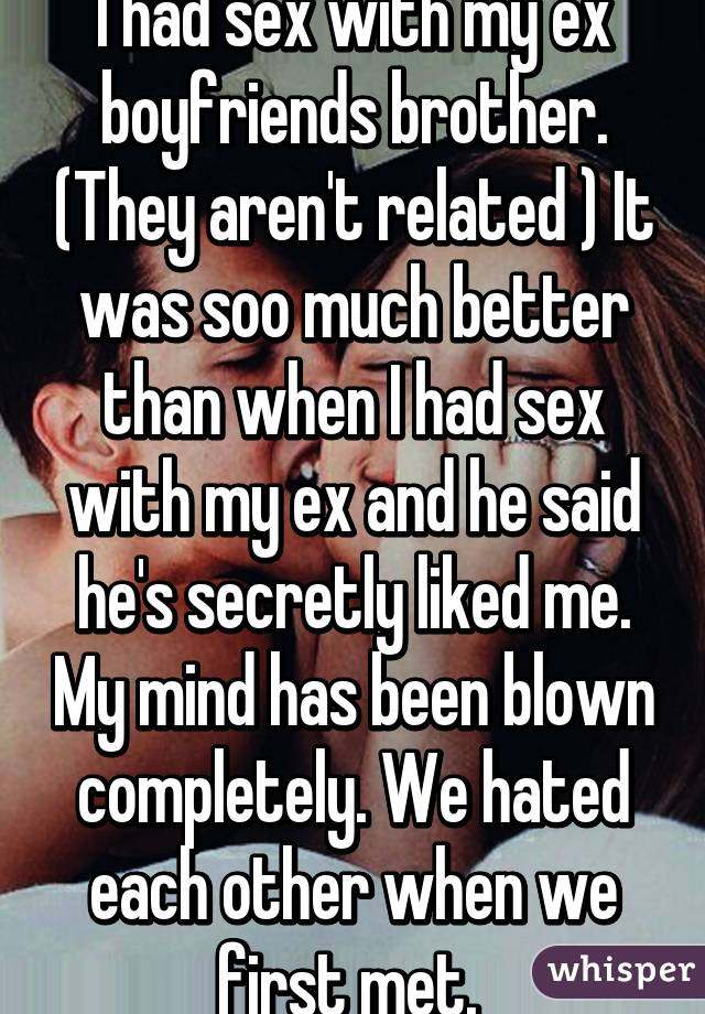 I have sex with my ex
