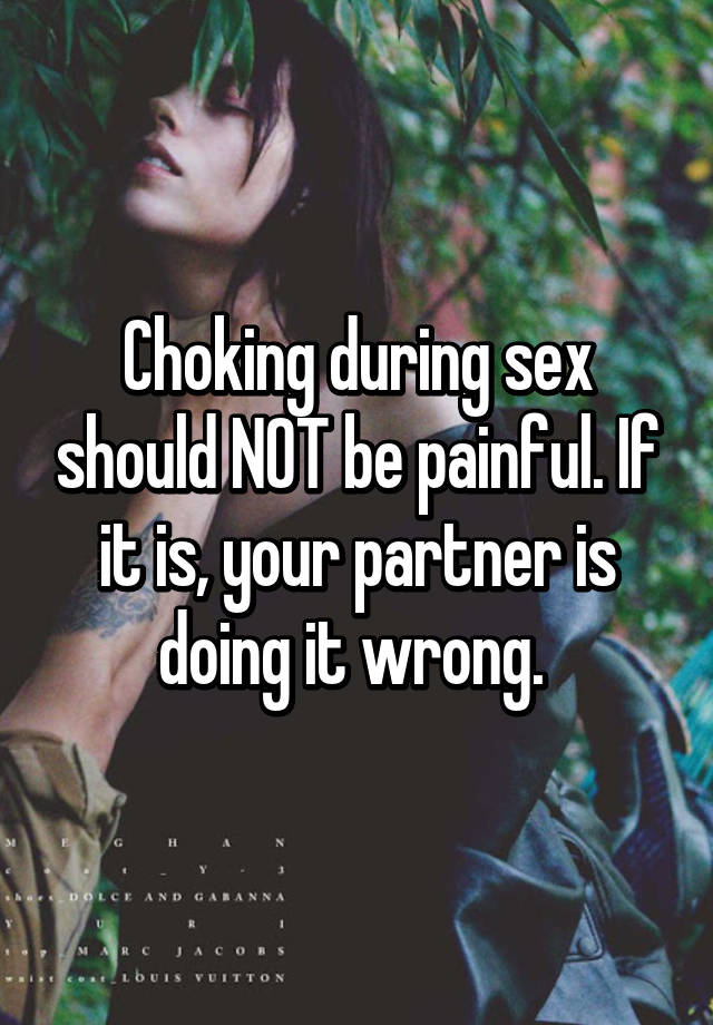 Sex should not be painful