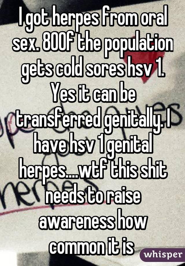 Genital herpes and aral sex
