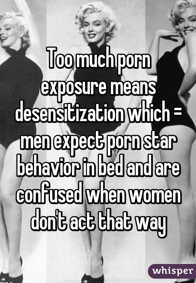 Porn and desensitization