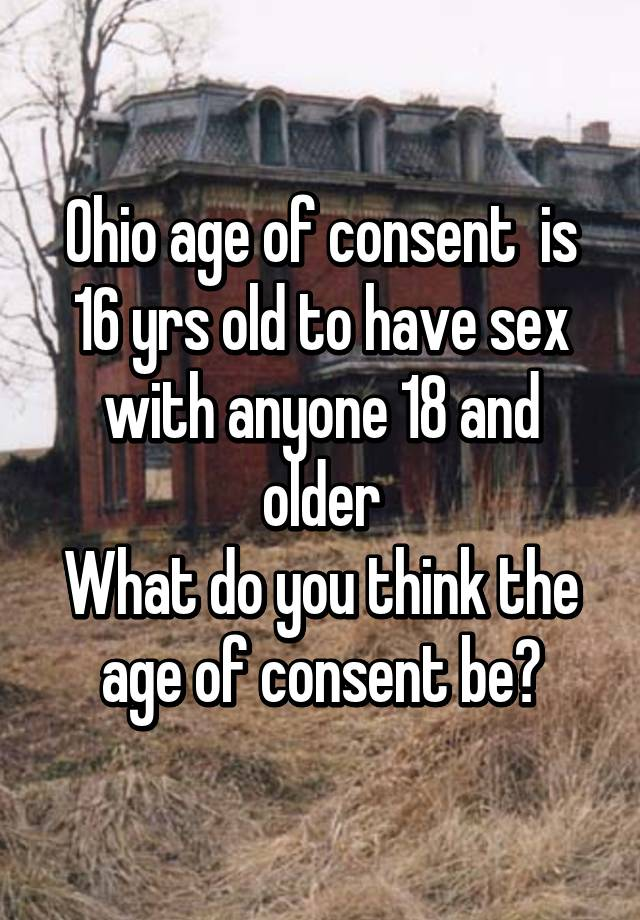 Age of sexual consent in ohio