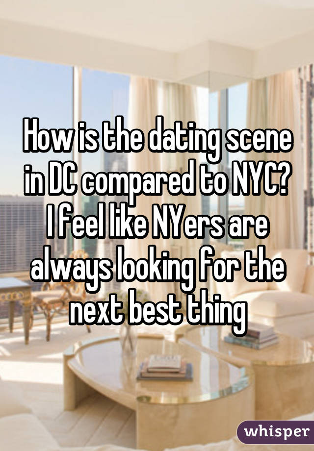 what is the dating scene like in dc