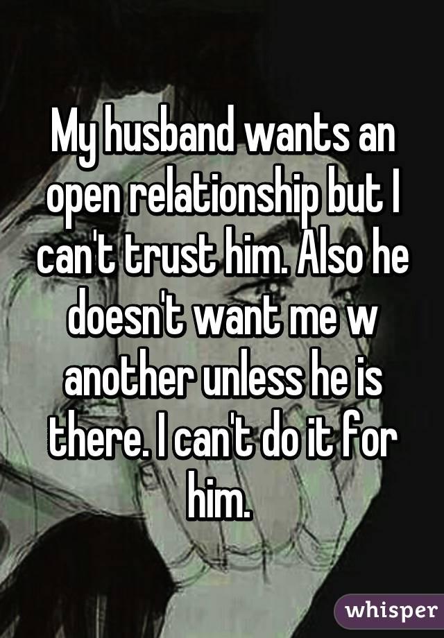 husband doesn t trust me