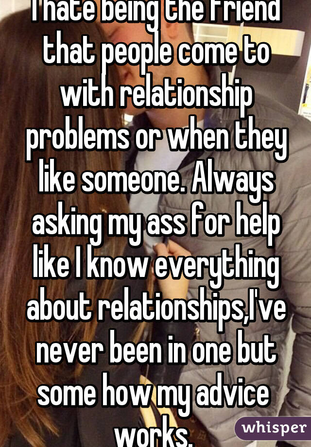 Relationship problems and advice