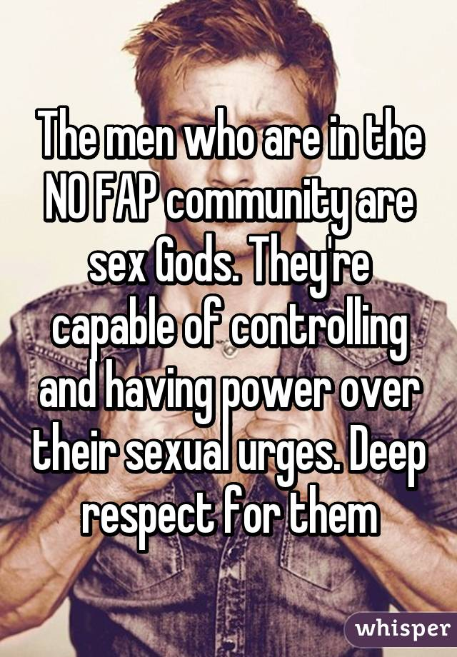 sexual urges Controlling