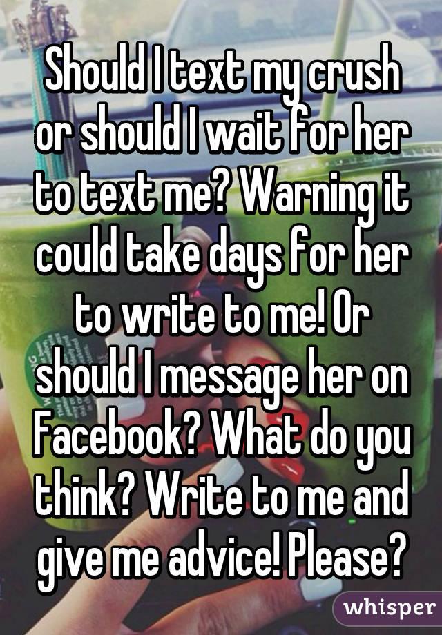 should i text my crush