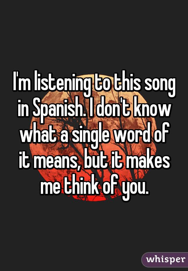 You single in spanish
