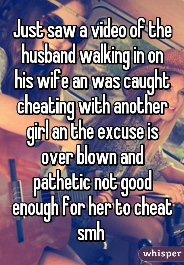 Husband walks in on wife cheating video
