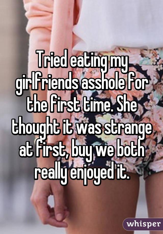 My girlfriends asshole